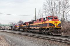 Southern Belles at Marion (sullivan1985) Tags: railroad train newjersey jerseycity military nj marion ge usarmy kcs hudsoncounty emd kansascitysouthern sd70mac electromotive sd70ace es44ac dodx