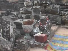 Offerings at Angkor Ruins