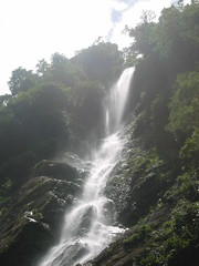 Waterfall in Cangrejal River Valley