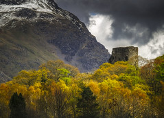 The Castle (Vemsteroo) Tags: trees light mountain snow mountains castle history nature beautiful rock wales architecture outdoors spring exploring peak stormy textures llanberis northwales circularpolariser dolbadarn nantperis 40150mm visitwales