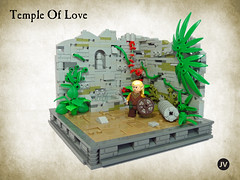 Temple Of Love (-JV-) Tags: castle stone wall lego plate medieval elf lordoftherings minifig vignette minifigure moc