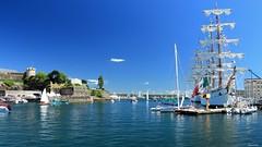 Brest 2016 - le Cuauhtemoc sous le soleil brestois (gaelkervarec) Tags: brittany bretagne brest voile voilier maritimes fetes finistere cuauhtemoc 2016 recouvrance penfeld