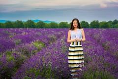 Lavender Bulgaria (sfabisuk) Tags: sunset portrait girl model lavender bulgaria