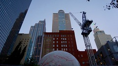 Looking Up (kenmes) Tags: architecture outdoor dallas huffington giant eyeball main street downtown