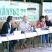 Stumpf András újságíró, publicista, Harrach Péter, a KDNP frakcióvezetője, Szél Bernadett, az LMP társelnöke és Kósa Lajos, a Fidesz frakcióvezetője