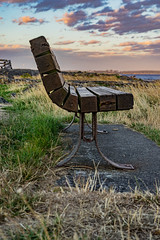 Sunset bench (cdnfish) Tags: canada cattlepoint clouds oakbay victoriabc vancouverisland bc britishcolumbia bench green grass exploring explore earth sony sonya7m2 sky sunset