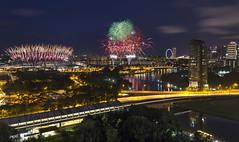 NDP 2016 Preview 1 - Fireworks at Singapore Sports Hub (gintks) Tags: gintaygintks gintks fireworks reflection singapore singaporetourismboard yoursingapore exploresingapore celebration sg51 2016