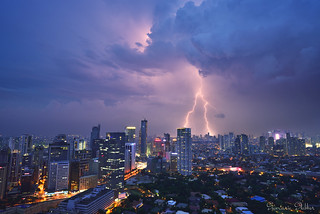 Thunder and Lightning over Makati City, Philippines
