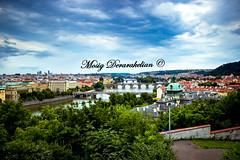 Beautiful Prague (Mosig Derarakelian) Tags: prague praha czech republic europe euro travel trip canon photography dslr architecture beautiful bridges charles clouds blue vltava river nature