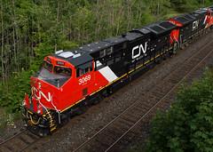 CN 3069 Roster (Joseph Bishop) Tags: railroad cn train track tracks rail railway trains r rails ge railfan brantford tier4 gevo 3069 cndundassubdivision et44ac