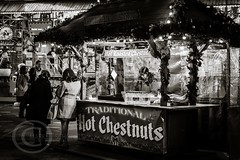 London Nov 2015 (7) 032 - Winter Wonderland in Hyde Park (Mark Schofield @ JB Schofield) Tags: park christmas street city winter england white black london monochrome canon fairground carousel hyde oxford rides nightlife wonderland stalls 5dmk3