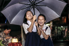 Lovely smile (-clicking-) Tags: life cute smile childhood smiling umbrella children innocent streetphotography streetlife vietnam innocence dailylife lovely saigon childish childlike