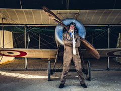 David Bremner (Billy TZ) Tags: airshow bristol david prinos wwi portrait cool pilot plane bristolscout scout airplane moody flash canon oldschool macedoniagreece