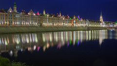 guess where (Sergey S Ponomarev) Tags: sergeyponomarev canon eos ef24105f40l city citta summer night reflection riflessi notte landscape paysage paesaggio hdr russia yoshkarola mariel north nord europe 2016 june travel tourism vista sight buildings houses tower lights colors colori                architecture