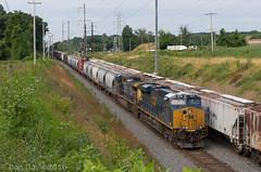 Q410 @ CP Berry (Dan A. Davis) Tags: railroad philadelphia photography pennsylvania trenton csx subdivision railroadphotography cw409 mixedfreight es44ah q410