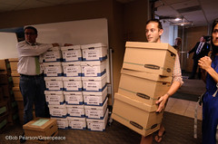 Inside Petition Delivery (Greenpeace USA 2016) Tags: colorado ban fracking petition truck delivery fossilfuel oil gas denver coalition