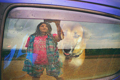 Just before the rain (petrapetruta) Tags: friend eyes dog reflexion window sonya7 manualfocus