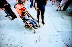 (golfpunkgirl) Tags: california travel usa holiday hot film ava america stars la losangeles lomo xpro lomography crossprocessed wide sunny slide day1 hollywood chinesetheatre 17mm 45yearsold lcwide may2016 mummydaughtertrip