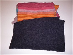 Upcycled wool sweater goodie bag (irecyclart) Tags: valentinesday