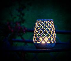 blue evening - blaue Stunde (macplatti) Tags: lantern laterne windlicht keramik ceramic night bluehour blue blau blauestunde nacht landscape chill abendstund on1photo10 alienskinsoftware koblach vorarlberg austria aut