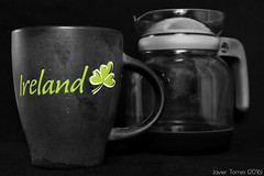 Passing the Time (The Whisperer of the Shadows) Tags: flickrfriday passthetime mug jar jarra taza cofee cafe bebida drink green verde blackandwhite blancoynegro