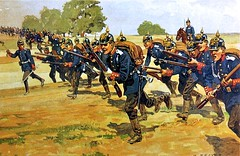 Carl Becker (DenjaChe) Tags: carlbecker infanterie militr prussia prusse heer army soldiers soldaten aquarell gemlde