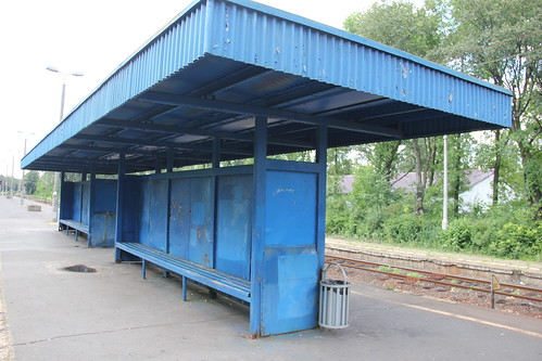 Platform shelter , Celestynów train station 04.07.2016