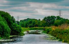 Rowing on the River Nene (williams19031967) Tags: river nene panasonic g6 lumix landscape canal mirrorless m43 mft f17 25mm welingborough england uk britain northamptonshire midlands canoe boat rowing row scenic