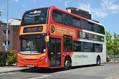TWM AD Enviro 400 4895 BX13JVR - Birmingham (dwb transport photos) Tags: nationalexpress travelwestmidlands alexander dennis enviro bus decker 4895 bx13jvr birmingham