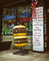 On Wheels (justingreen19) Tags: 2ndavenue americanfood bestburger burgersign burgers eastvillage fastfood ny nyc nycburger newyork newyorkcity paulsburger paulsdaburgerjoint paulsburgerjoint takeaway city food justingreen19 manhattan neon neonsign pavement plastic sidewalk sign signage takeout urban urbanabstract
