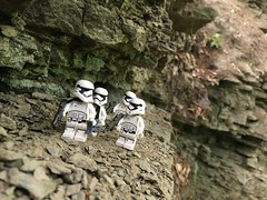 """""""We will set up here. The cliffs we provide cover."""" (kevinmboots77) Tags: stormtroopers firstorderstormtrooper starwars legography lego"""