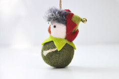 Christmas Ornament, Peper Pan (noristudio3o) Tags: christmas ornaments peter pan green elf holiday decor tree decorations gift giftideas handmade handcrafted noristudio nori studio needle felting felted felt needlefelting