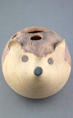 Hedgehog Toothbrush Holder (Ryan McCullen) Tags: animal wildlife wild tooth toothbrush toothpaste toothbrushholder clay ceramic stoneware pottery sculpture handmade wheel wheelthrown hedgehog hedgie functional holder bathroom home