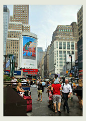 Summer in The Big Apple (Robert S. Photography) Tags: city crowds people tourists buildings signs billboards street lamps macys subway newyork manhattan w33rdst summer canon color powershot elph160 iso200 august 2016