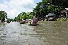 Barisal floating guava market (Manzur Ahmed) Tags: guava market barisal floating bangladesh august 2016 nikon d7100 18140 outdoor landscape green blue sky