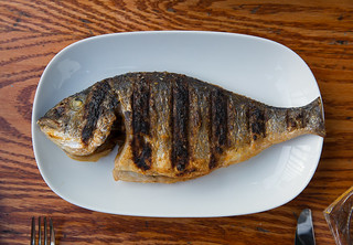 Sea Bream wood grilled and served whole