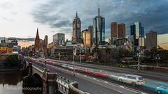 Princes Bridge traffic, Melbourne (trevorjphotography) Tags: princesbridge cars people traffic peakhour dusk longexposure le neutraldensityfilter ndfilter fotga melbourne victoria australia cbd city skyline skyscrapers 101collinsstreet yarrariver traffictrails cartrails blurred sunset cityscape landscape road
