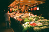 Fruits and vegetables at La Boqueria (srgpicker) Tags: 35mm analog barcelona boqueria expired film fotosistema iso100 mercado mercat mjuii olympus μmjuii food market fruits vegetables fruta verdura fruites verdures analogue parada bcn greengrocer