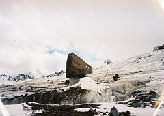 (Nikolay Kulivets) Tags: 35mm film olympusmjuii mjuii kodak georgia landscape kazbek caucasus alpinism glacier rock rocks mountain clouds snow ice