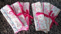 Meus trabalhos recentes... (Cleide Patch e Afins) Tags: body minnie rosa necessaire estojo toalhadeboca toalha kit presente tiaras enfeite de cabelo bailarina tutu colan caixa