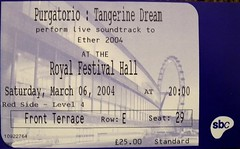 Tangerine Dream  : London 2004 (Gerry Hill) Tags: tangerine dream performed stage with first showing reconstructed 1911 silent film linferno directed by giuseppe de liguoro royal festival hall london 6th march 2004 purgatorio dante alighieri la divina commedia electronic synth ambient instrumental