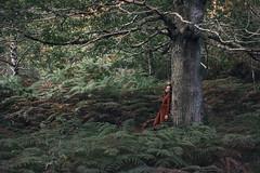 Memories of Scotland.  3. A 'choille (El bosque) (Tania Cervin) Tags: seleccionar mujer bosque forest scotland me selfportrait autorretrato canon taniacervianphotography tree verde green