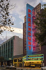 Paramount Theater - Oakland (sirgious) Tags: oakland broadway paramount theater theatre neon lights dusk
