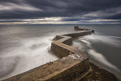 St Monan's Pier, Fife, Scotland (MelvinNicholsonPhotography) Tags: stmonans scotland fife breakwater harbourwall breakwaterwall coastal seascape canon5ds melvinnicholsonphotography ocean sea waves water crashing longexposure skies