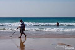 Tangier Beach (jeremyvillasis) Tags: tanger tangier tanja morocco marocco maroc africa northafrica beach playa people travel cleanup metaldetector man waves sea splash atlantic ocean