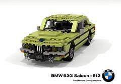 1972 BMW E12 520i Saloon (lego911) Tags: bmw e12 520i 520 saloon sedan 1970s classic germany german auto car moc model miniland lego lego911 ldd render cad povray lugnuts challenge 108 lugnutsturnnine lturns nine 9th birthday showyourage 8th foitsop