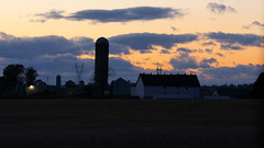 Amish Country IV (Lawrence OP) Tags: pennsylvania amish dutch silo sunset silhouette