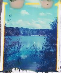 Blue (~ Meredith ~) Tags: new55film intrepidcamera largeformat 4x5 colour instantfilm filmphotography filmwins filmisnotdead ishootfilm sheshootsfilm lake lido water blue fscpolaroid polavoid snapitseeit