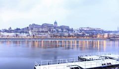 Buda Castle in snow (Kcsor Zsolt) Tags: budapest building beauty water waterfront winter town snow canon colors city color cloud clouds castle danube duna depth 70d architecture hungary helysznek outdoor morning light lights skyline stm sky 1018