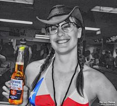 Aug 6 2016 - Hello Texas and Corona, and welcome to Sturgis (lazy_photog) Tags: lazy photog elliott photography worland wyoming sturgis south dakota black hills motorcycle rally races one eyed jacks saloon bartender babe biker selective color 080616sturgisday1